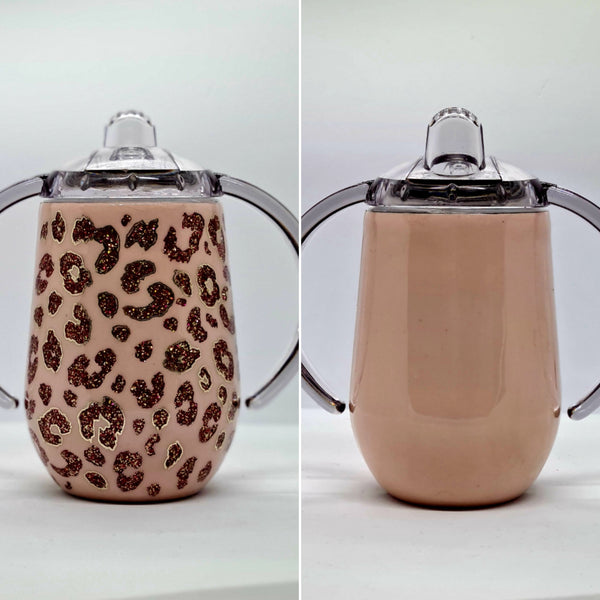 Pink Leopard Sippy Cup