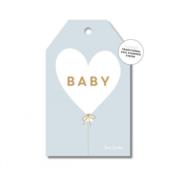 Baby Heart Balloon - Blue