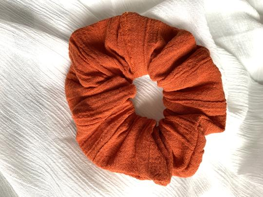 Rust Orange Scrunchie