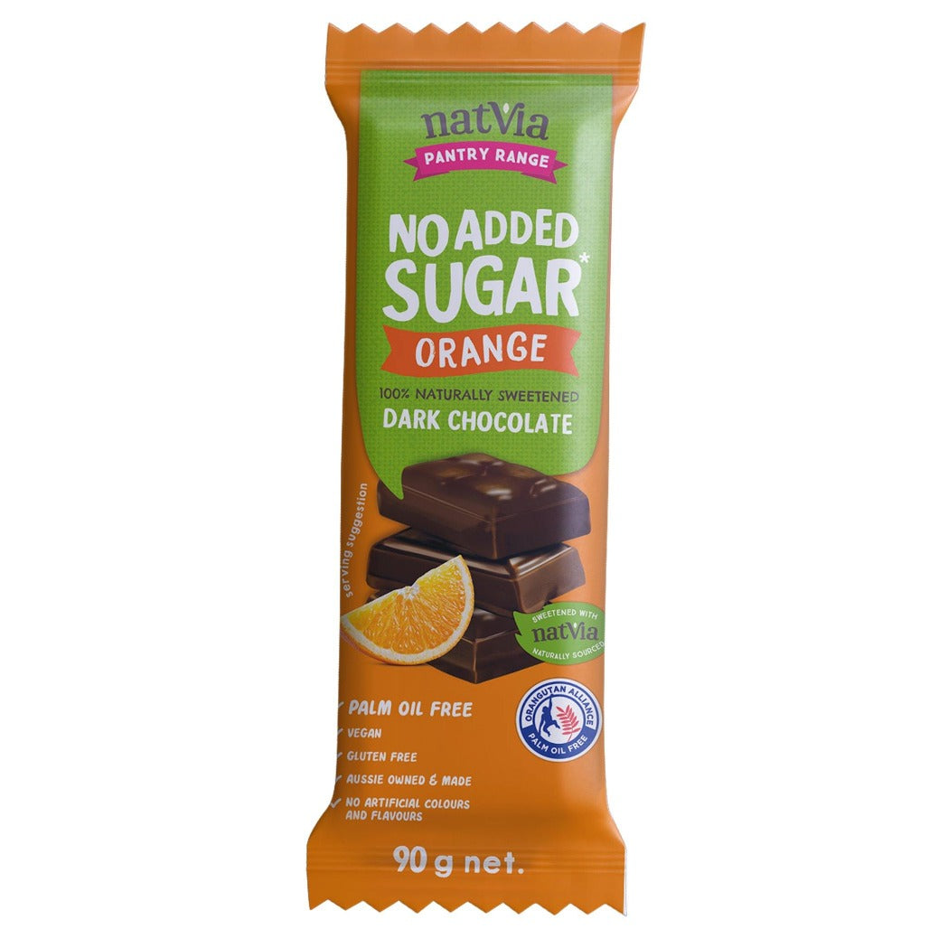 Natvia Orange Dark Chocolate 90g - Natvia Sugar Free