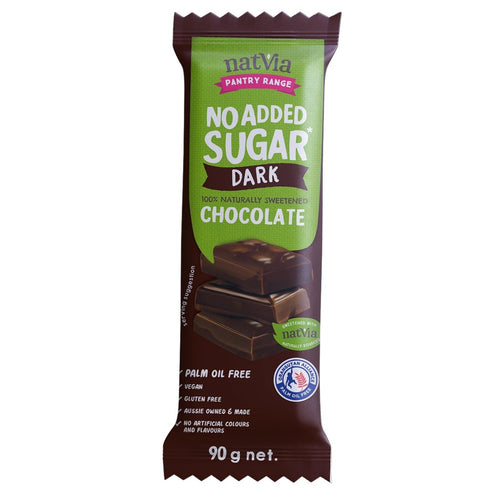 Natvia Dark Chocolate 90g - Natvia Sugar Free