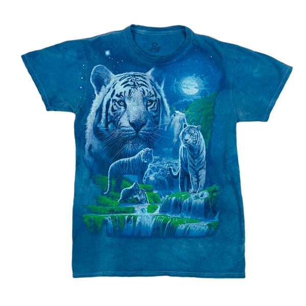 MODERN Liquid Blue White Tiger Tee
