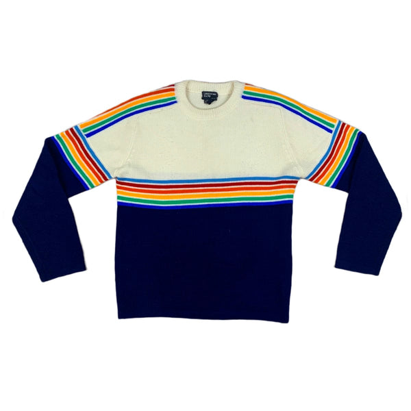 Christopher Rand Rainbow Stripe Sweater