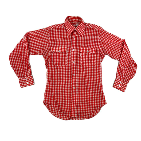 Levi's Red Gingham Long Sleeve Shirt