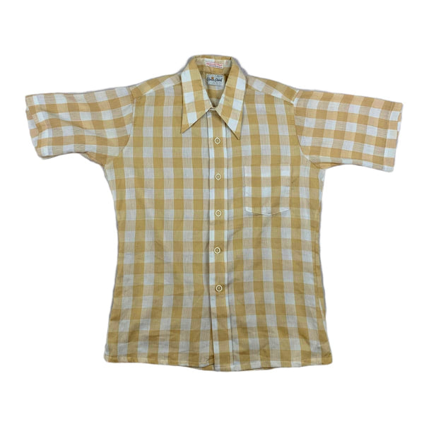 Crown Point Tan Gingham Shirt