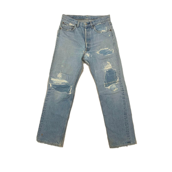 Levi's Distressed Repaired Jeans
