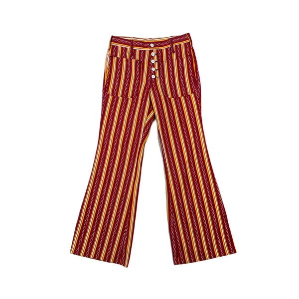 Red & Yellow Striped Bell Bottoms