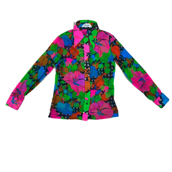 Lady Manhattan Neon Floral Top