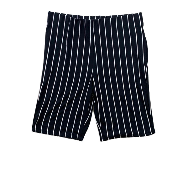 NEW Hearts & Hips Striped Black Bike Shorts