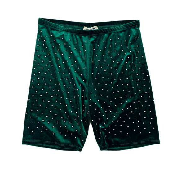 NEW Bear Dance Green Rhinestone Shorts