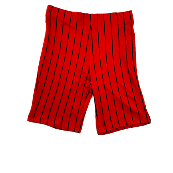 NEW Hearts & Hips Striped Orange Bike Shorts