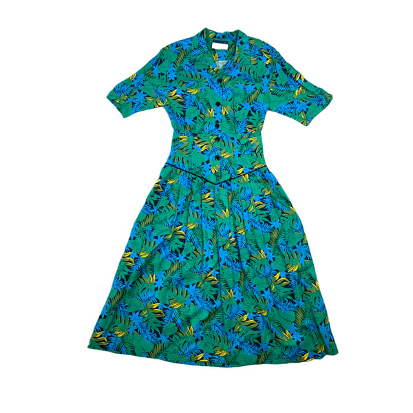 Kathryn Conover Leaf Print Dress