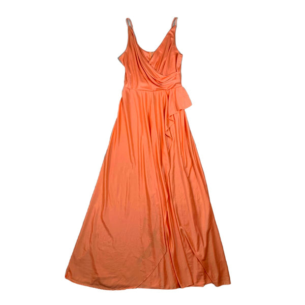 Peach Ruffle Maxi Dress