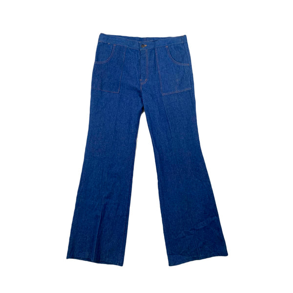 Square Pocket Bell Bottoms