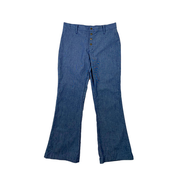 High Waisted Button Front Flares