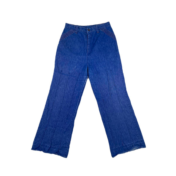 Sears Pin Tuck Flared Jeans