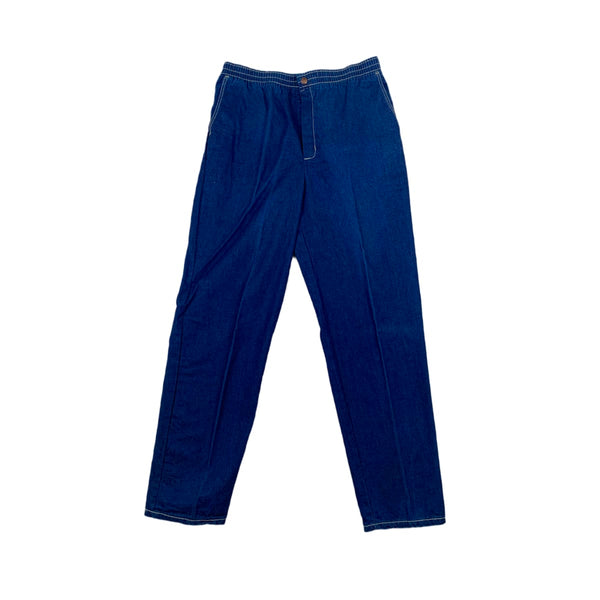 Stuffed Jeans Elastic Waist Pants