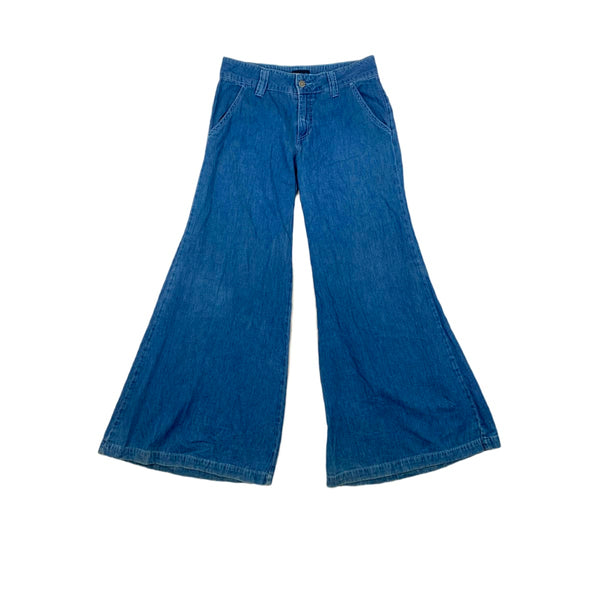 MT:2 Low Rise Mega Flared Jeans