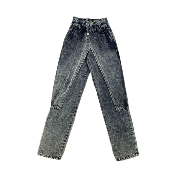 Panhandle Slim Acid Wash Flap Jeans