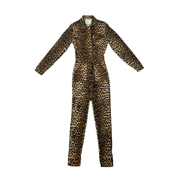 NEW Nature Denim Leopard Jumpsuit