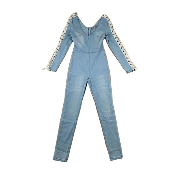 NEW 36 Point 5 Lace Up Sleeve Jumpsuit