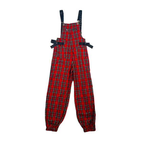 NEW 36 Point 5 Plaid Overalls
