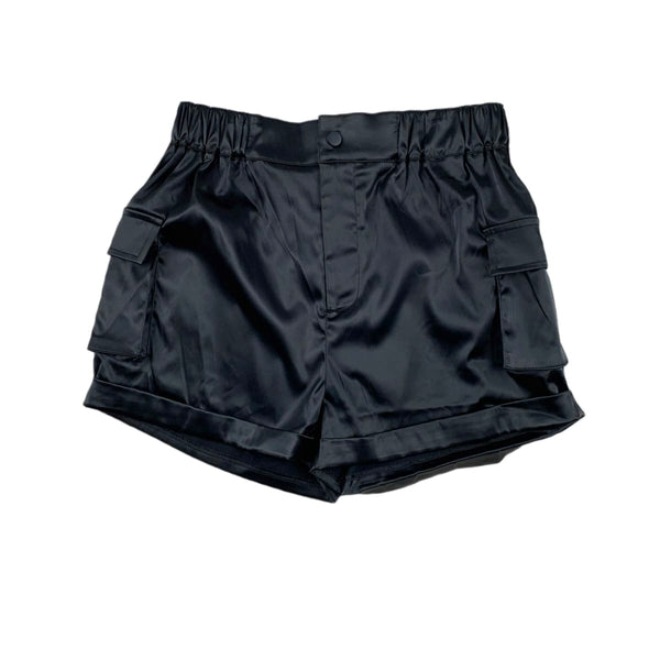 NEW TIC TOC Satin Cargo Shorts