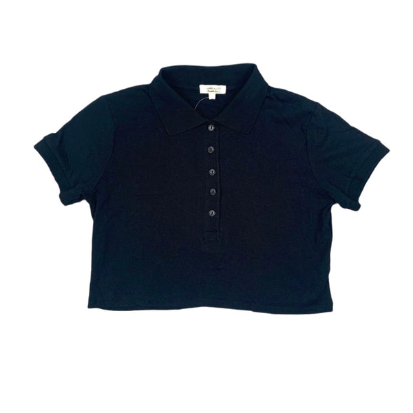 NEW Heart & Hips Black Cropped Polo