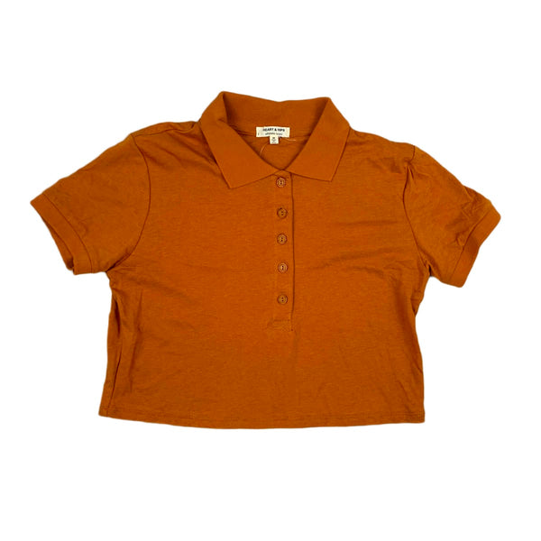 NEW Heart & Hips Rust Cropped Polo