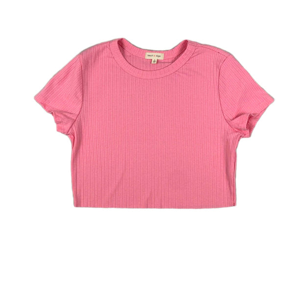 NEW Hearts & Hips Ribbed Pink Tee