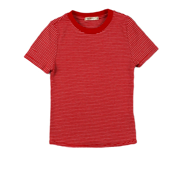 NEW Hearts & Hips Red Striped Tee