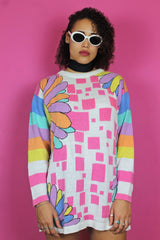 Bright Pastel Printed Jumper