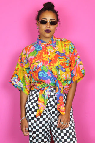 Super Sassy Colourful Silk Shirt