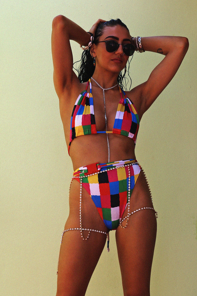 JC x SW Elmer Print High Leg Bikini Brief Bottoms