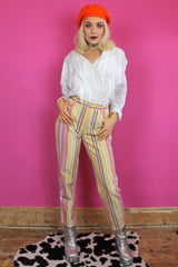 Rainbow Stripe Printed Jeans