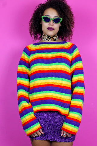 Rainbow Bright Striped Jumper