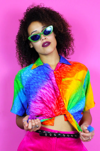 Rainbow Diagonal Stripe Shirt