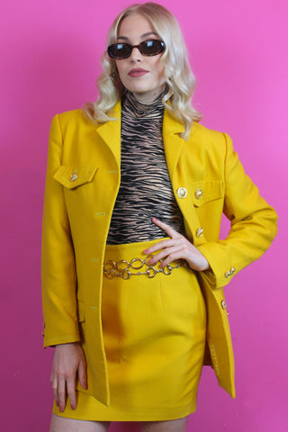 Yellow Girl Boss Suit