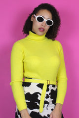 Bright Yellow Turtleneck