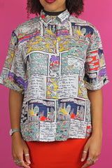 Betty Barclay Colourful Novelty Print Shirt
