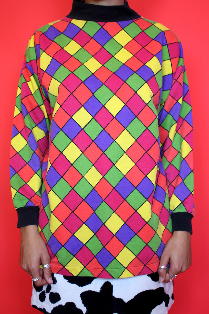 Rainbow Harlequin Lightweight Jumper