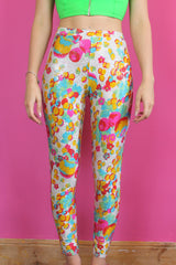 Colourful Sparkly Printed Leggings