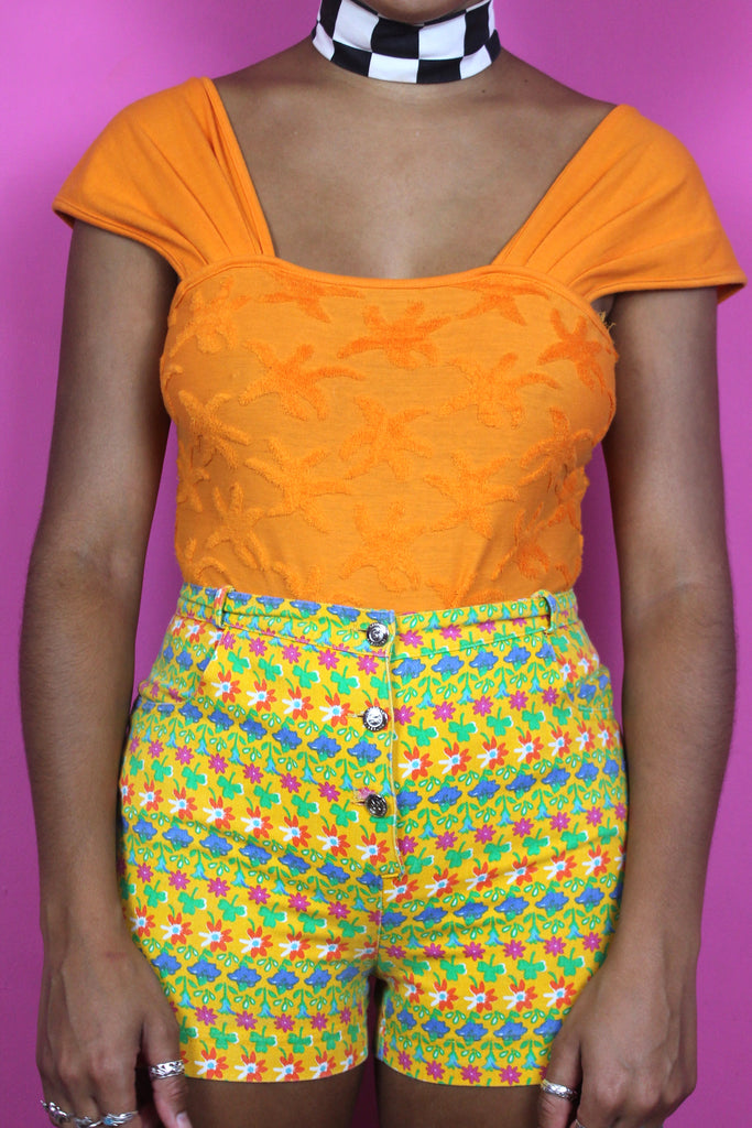 Colourful Floral Handmade Hotpants