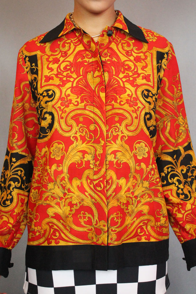 Red & Gold Baroque Shirt