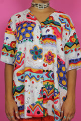 Colourful Oversized Printed Shirt