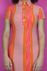 Orange Stripe Mini Dress