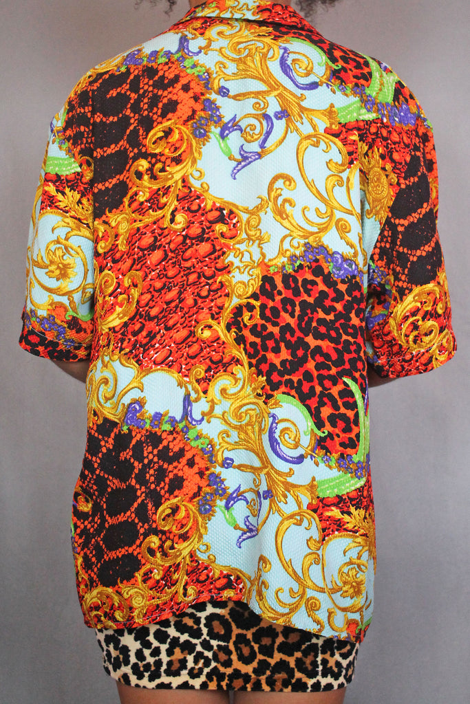 Multi-Coloured Baroque Leopard Shirt