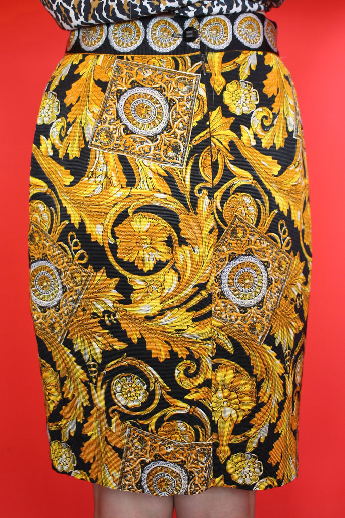 Black & Gold Baroque Skirt