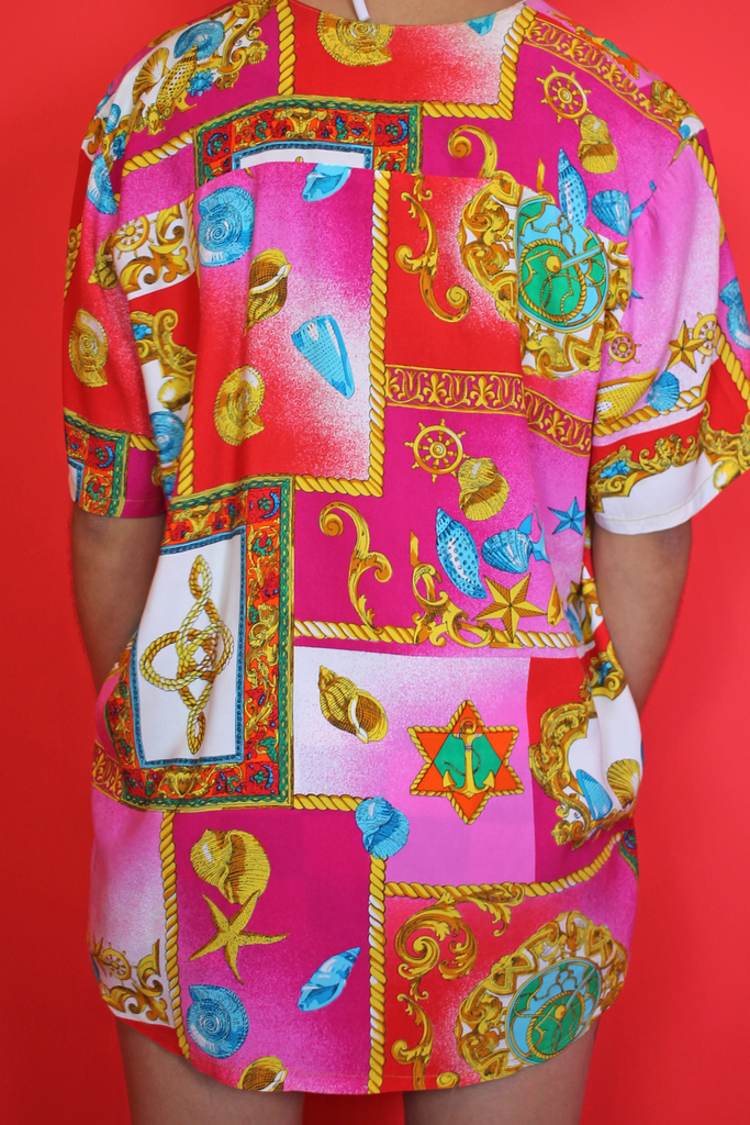 Funky Pink & Red Baroque Shirt