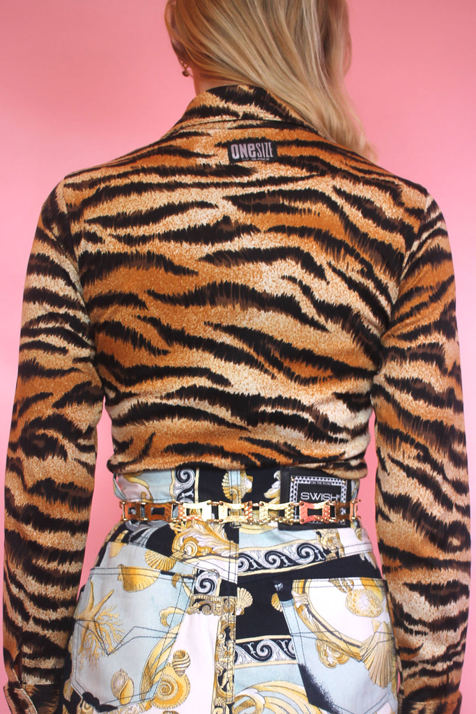 Tiger Print Fitted Shirt